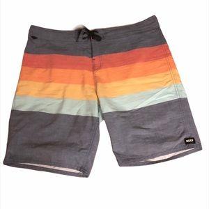 Men's Reef Striped Board Shorts